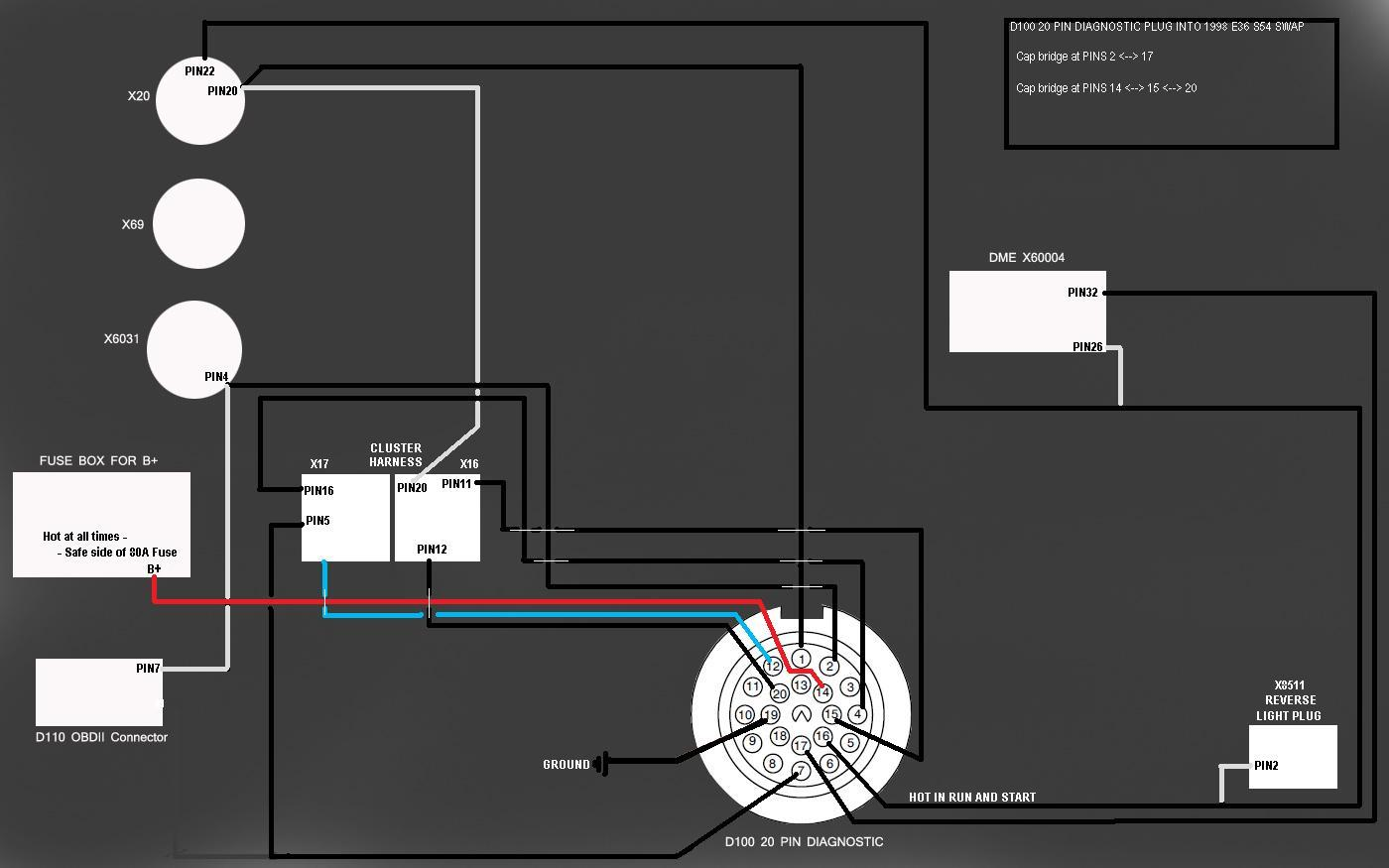 S54 Hellrot E36 328i Page 8 Smg Wiring Diagram The Blue Wire In Goes To X17 Pin 6