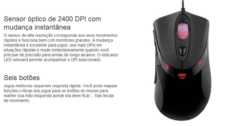 Mouse Corsair Gaming Raptor LM3 - 2400dpi - CH-900