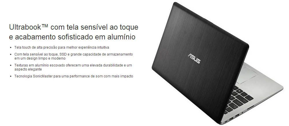 Ultrabook Asus Vivobook S400CA - Tela 14