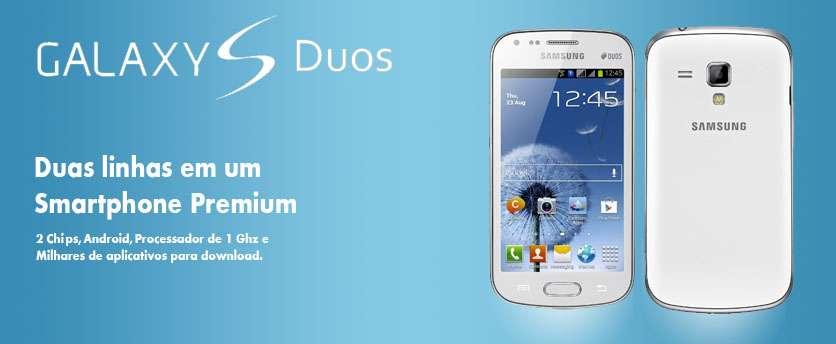 Smartphone Samsung Galaxy S Duos Dual Chip - Tela