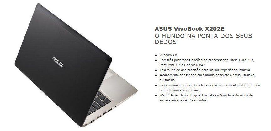 Asus Vivobook S200E-CT167H - Tela 11.6