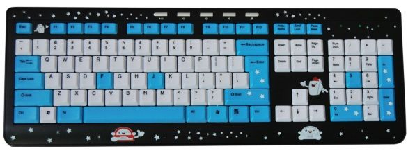 Teclado Multimidia Starry Night Kids - USB - Azul