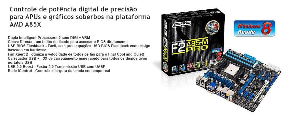 Asus F2A85-M PRO (FM2 - DDR3 1866) HDMI/DVI/VGA -