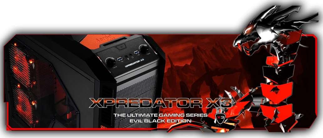 Gabinete AeroCool Xpredator X3 Evil Black Edition