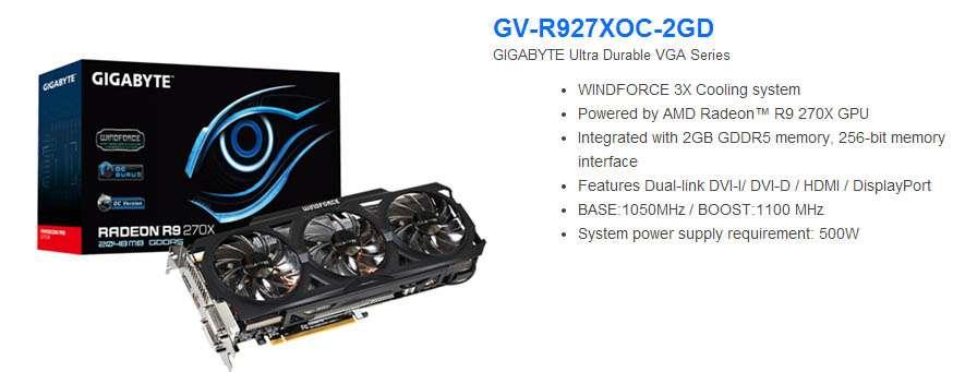 AMD Radeon R9 270X 2GB GDDR5 256bits - DVI/HDMI/Di