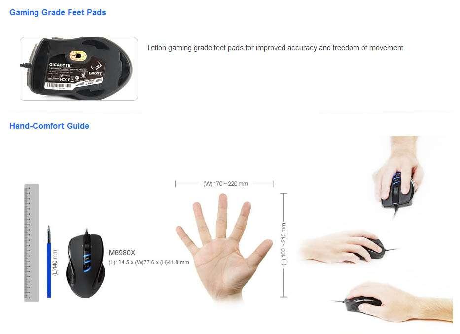 Mouse Gigabyte Ghost Macro Laser Gaming