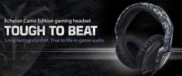 Headset Asus Echelon Camo Edition - Microfone retr