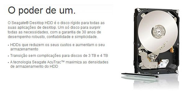 HD 4 TB SATA 3 - 6Gb/s - 64MB Buffer - Seagate ST4