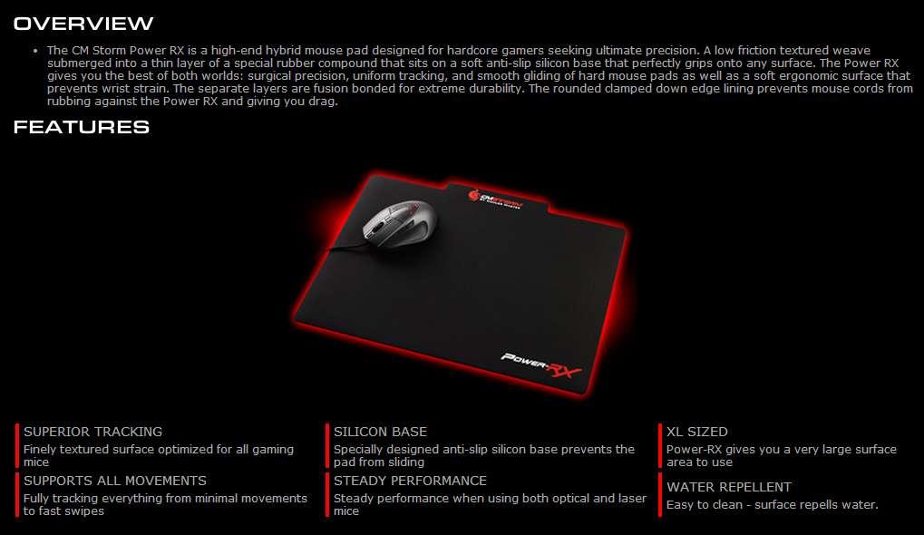 Mouse Pad Cooler Master CM Storm Power-RX - SGS-80