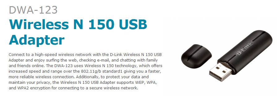 Adaptador USB Wireless D-Link - Alta potência 150M