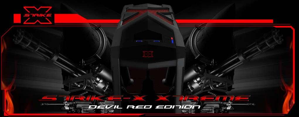 Gabinete AeroCool Strike-X Xtreme Devil Red - USB