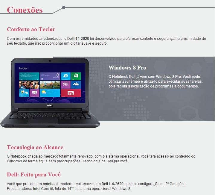 Dell Inspiron 14-2620 - Tela 14