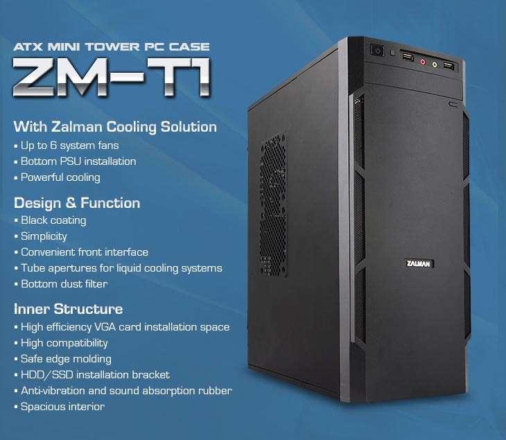 Gabinete Zalman ZM-T1 - Filtro de poeira - Interio