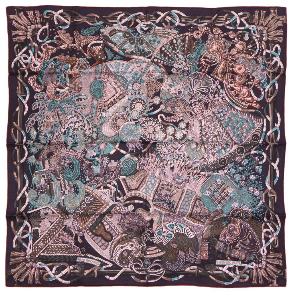foulard scarf carr herm s neuf au fil du carr ebay. Black Bedroom Furniture Sets. Home Design Ideas