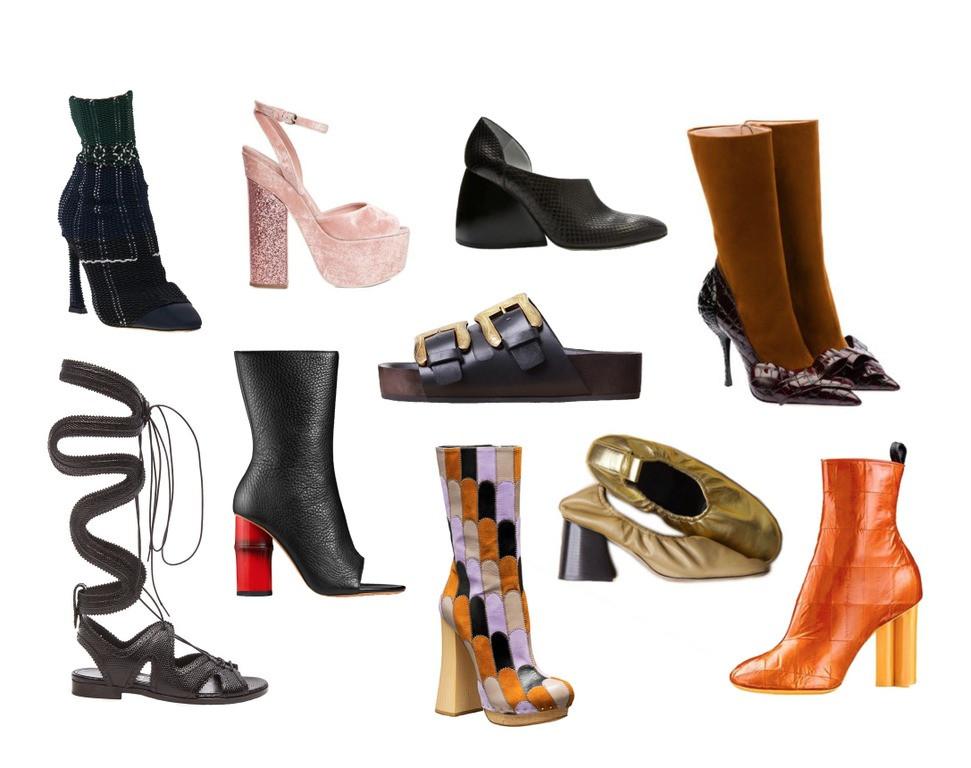 Celine Black Platform Shoes