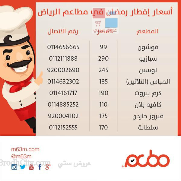 شاهد اسعار افطار رمضان في مطاعم الرياض t78mO2.jpg