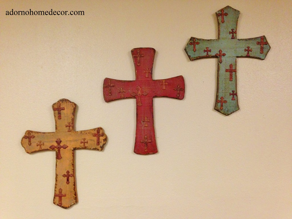 rustic wood metal wall cross hanging distressed antique chic wall plaque decor ebay. Black Bedroom Furniture Sets. Home Design Ideas