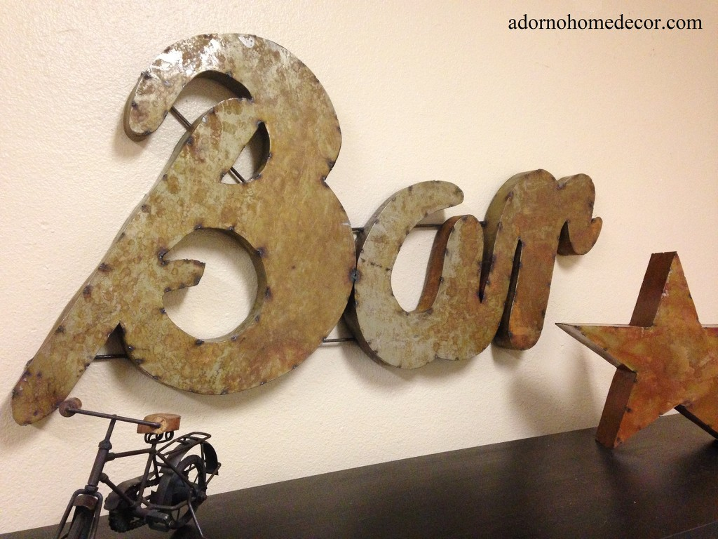 Rustic Bar Wall Decor : Rustic metal bar sign wall decor industrial restaurant