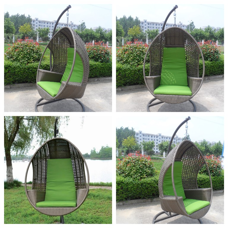 new quality hanging swing egg chair rattan in outdoor pod