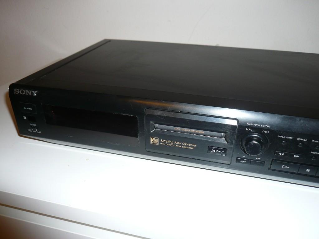 sony mds je500 minidisc player recorder ohne fernbedienung 2j garantie. Black Bedroom Furniture Sets. Home Design Ideas