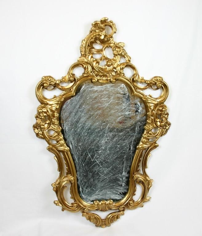 Specchiera dorata specchio a parete stile barocco finto - Specchio ovale vintage ...