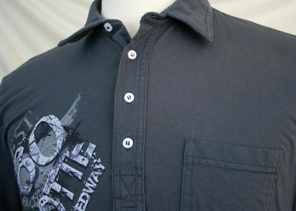dark gray polo shirt  m dark gray