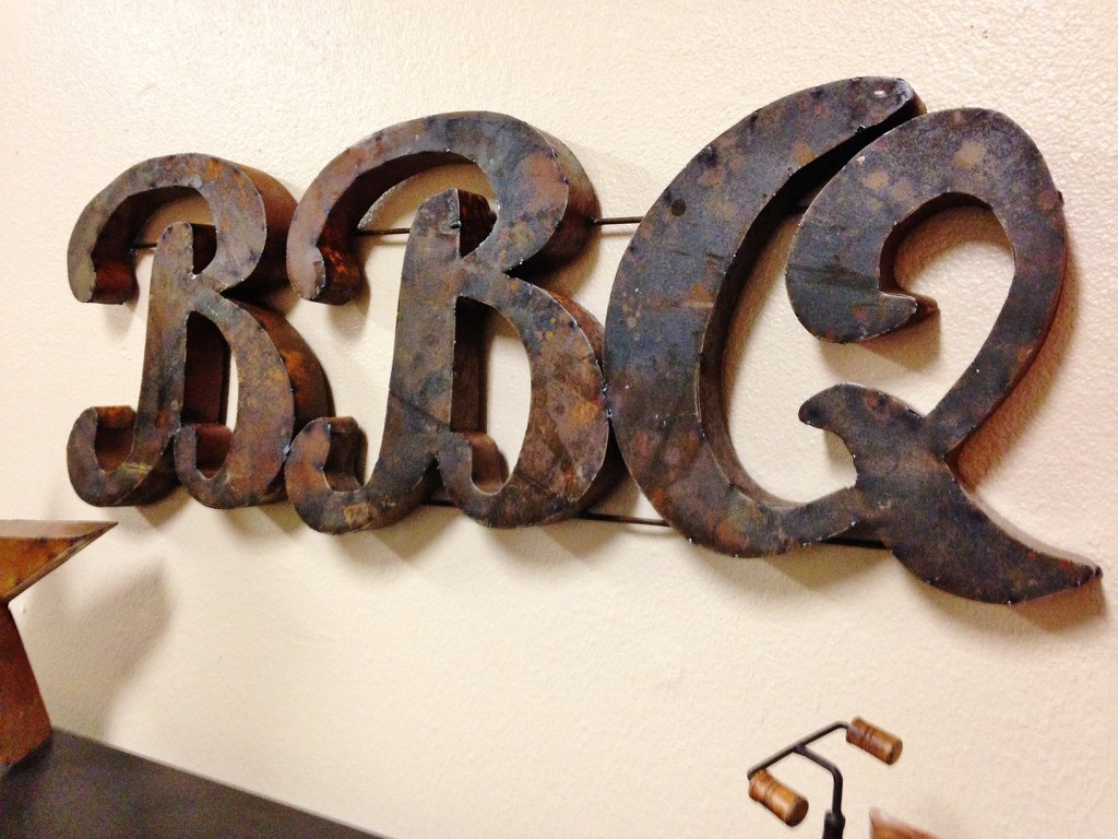 Bbq Restaurant Wall Decor : Rustic metal bbq wall decor industrial restaurant recycled