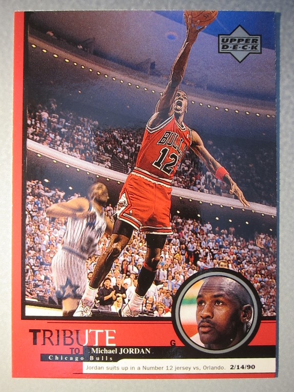 yarxer LOT OF (2) Michael Jordan Upper Deck Basketball Card wearing