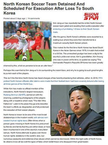 Kim Jong un nak hukum pasukan bola sepak lelakinya sebab kalah kepada Korea Selatan
