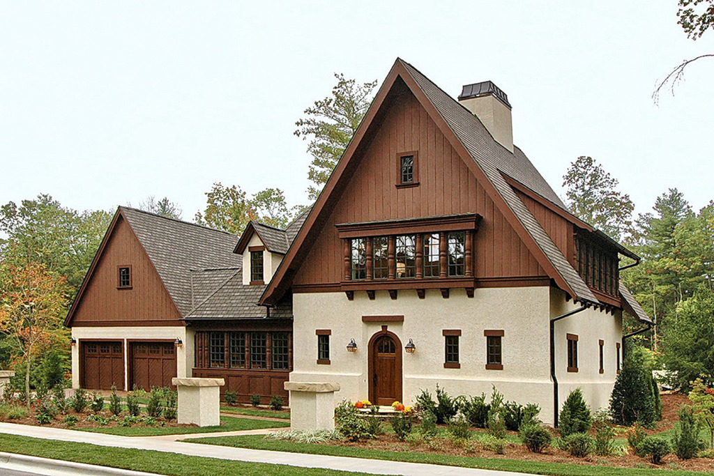 New buildings built in traditional architecture style for Bavarian home designs
