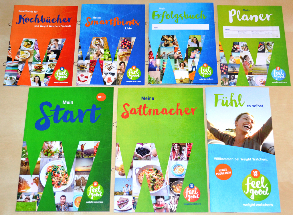 weight watchers mein start komplettset starter sattmacher liste smartpoints 2016 ebay. Black Bedroom Furniture Sets. Home Design Ideas