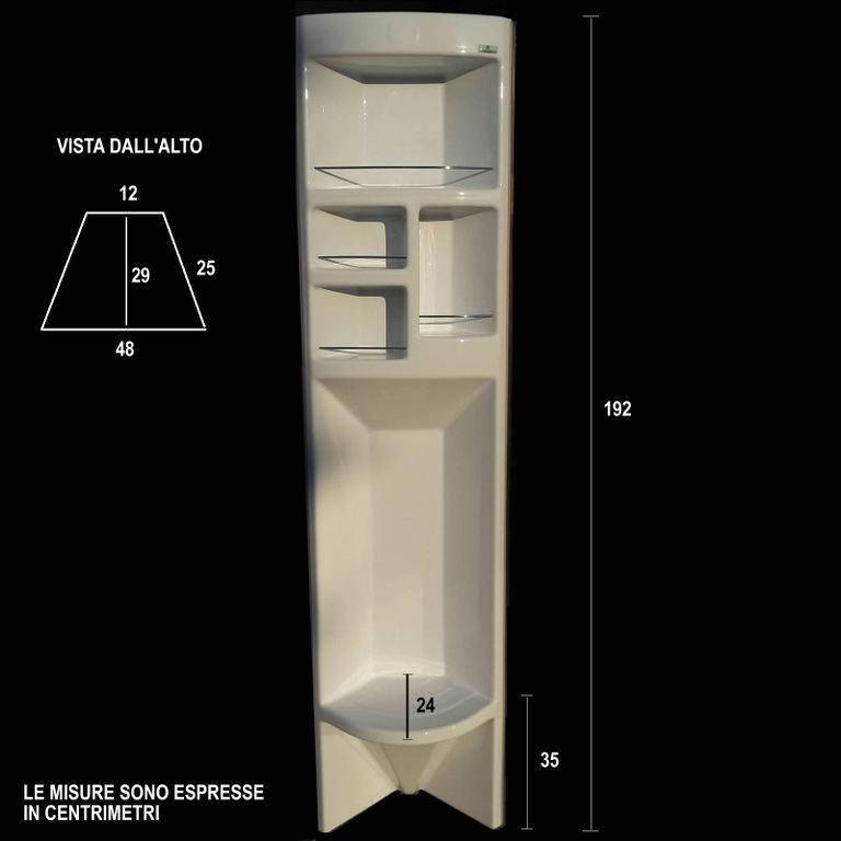 Parete attrezzata ad angolo per box doccia con seduta cristalbox ...