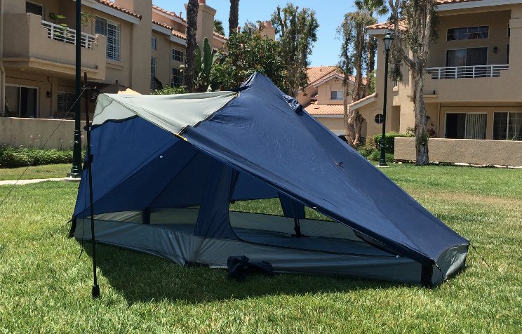 It weighs 14.8oz and is designed for people who are up to 6u00278  tall. It uses your hiking poles as tent poles. Pretty cool set up. & Ground tents... An open ended discussion | Page 4 | American ...