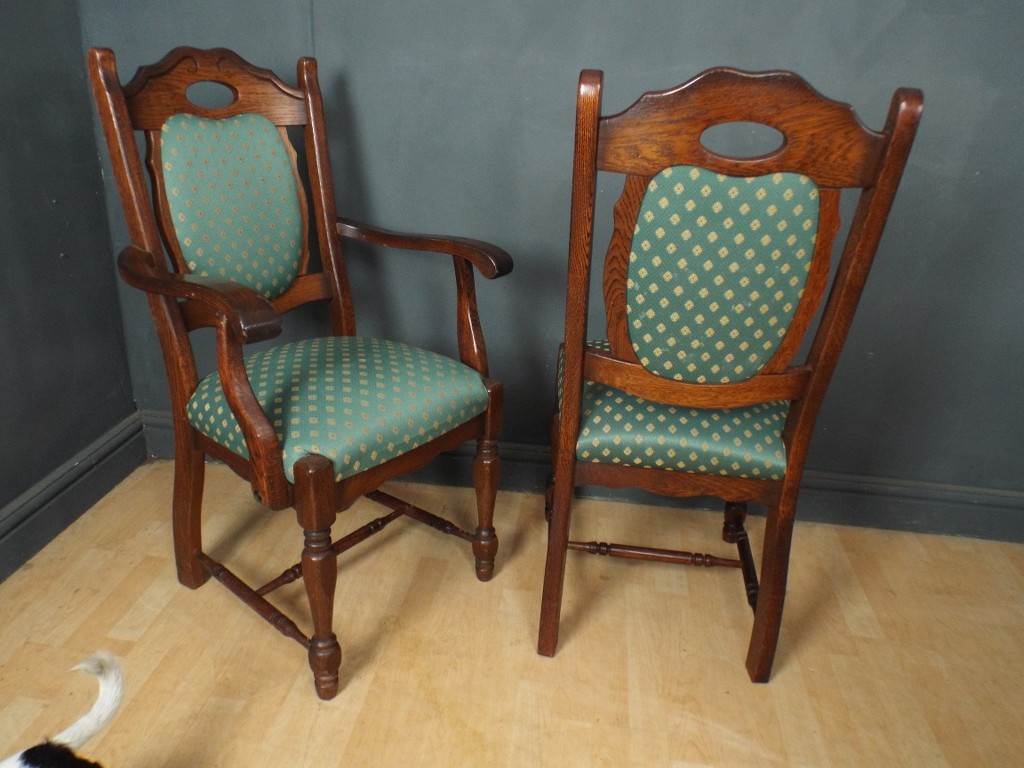 of six 4 2 solid oak dining chairs by karel mintjens ref355 ebay