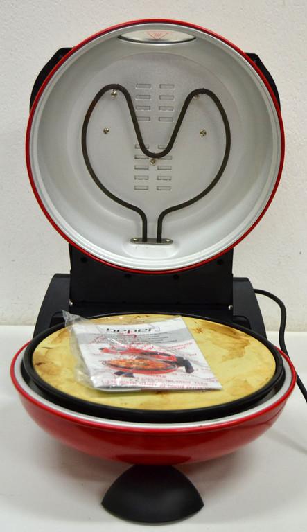 Forno elettrico per pizza regina margherita beper pietra refrattaria rotante ebay - Pietra per forno elettrico ...