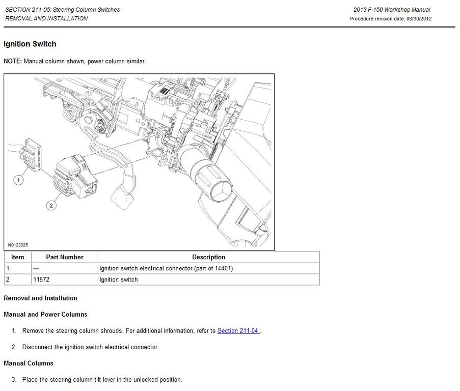 1995 Ford F150 Steering Column Diagram - General Wiring ...