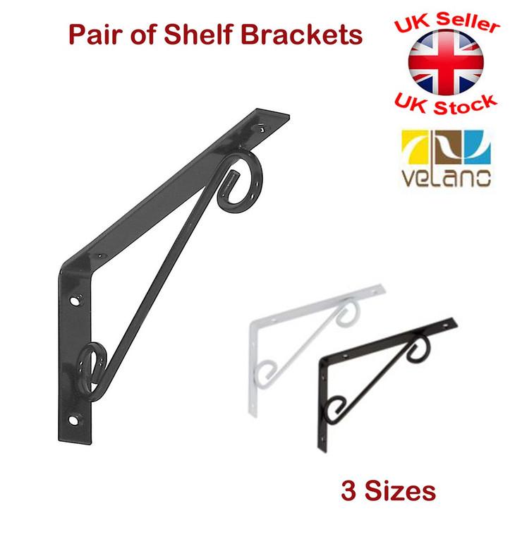 Architectural Support Brackets : Decorative shelf supports metal ornamental brackets
