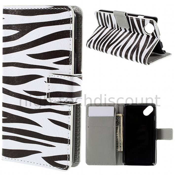 Housse etui coque portefeuille pu cuir pour wiko sunny for Housse wiko sunny 2