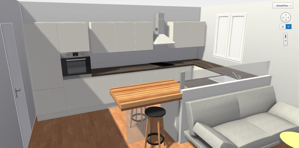 Forum semi open space cucina sala for Semi open spaces