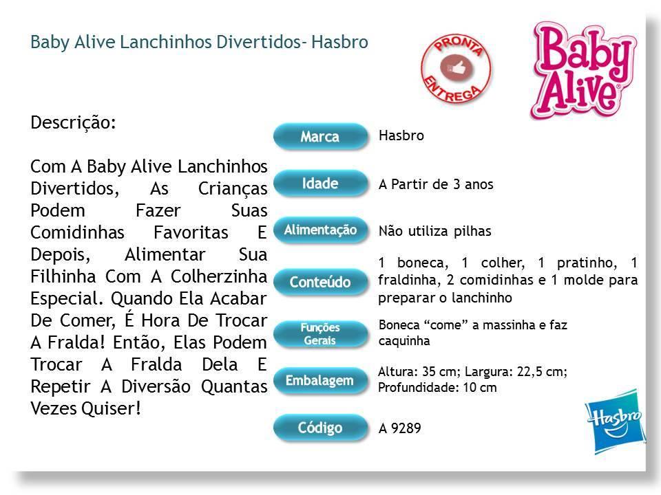Baby Alive Lanchinhos Divertidos Hasbro