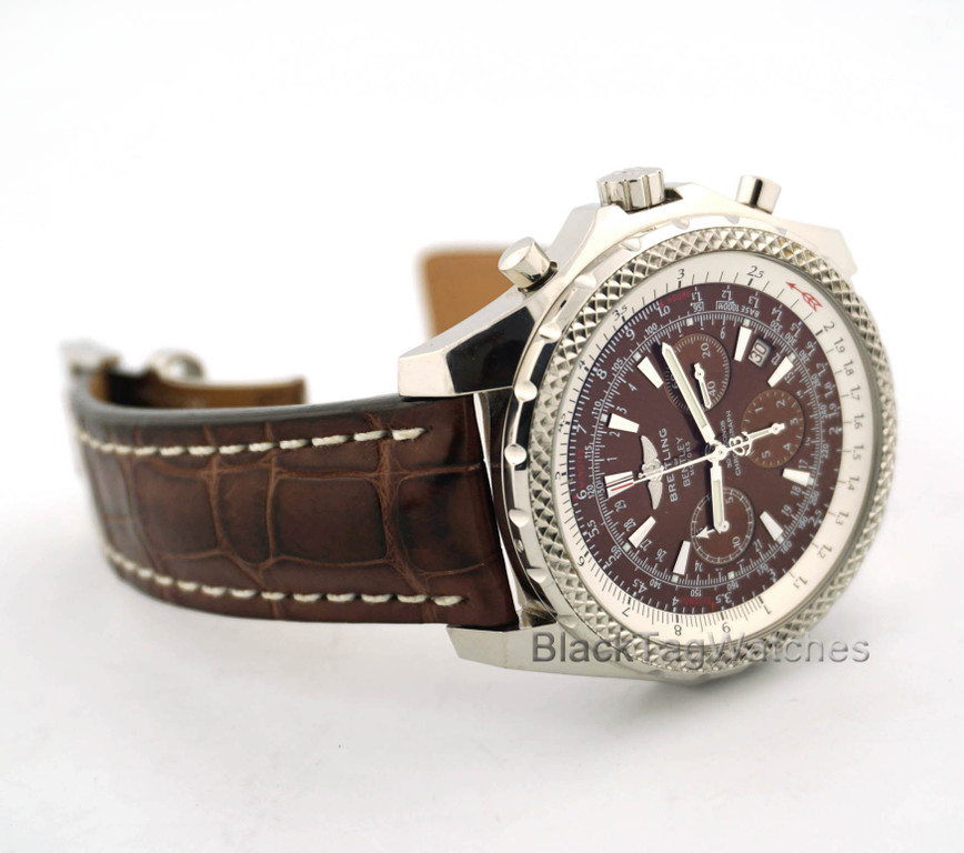 Breitling Bentley Leather Band: Breitling Bentley Automatic Chronograph Bronze Dial A25362