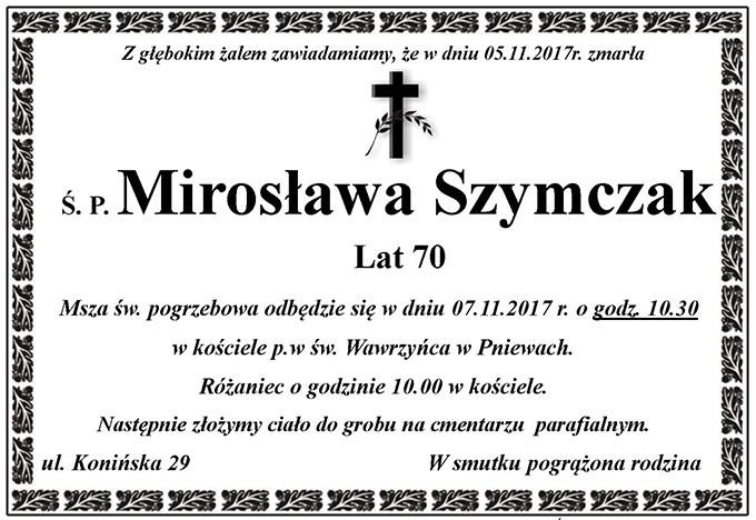 Żyli wśród nas – Mirosława Szymczak