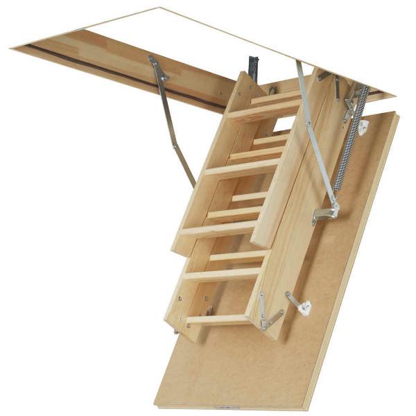 60x94 4 section fakro wood folding loft ladder hatch ebay - Folding stairs to loft plans ...