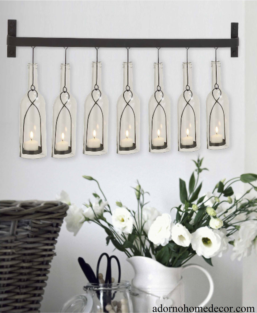 Modern Rustic Wall Decor : Modern bottle wall sconce rustic vintage cottage chic