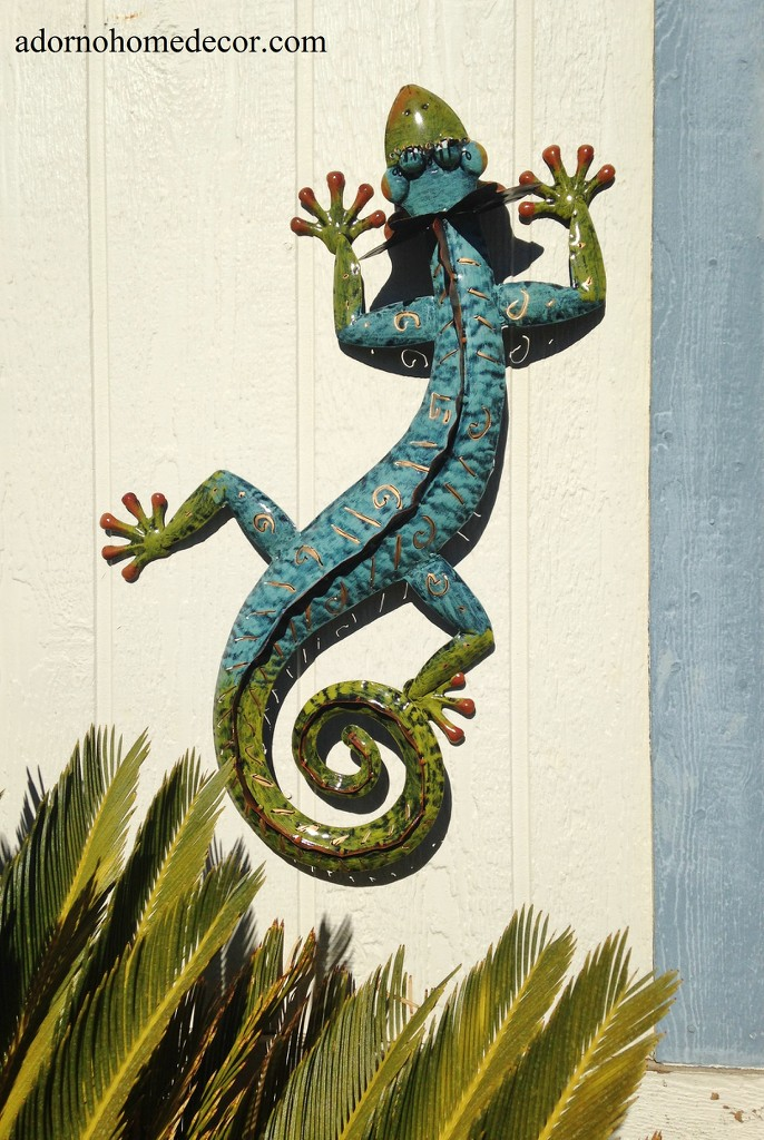 Outdoor Wall Decor Gecko : Metal gecko wall decor garden art indoor outdoor patio