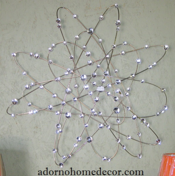 Wall Decor With Crystal : Crystal metal wall art plaque modern rustic chic accent