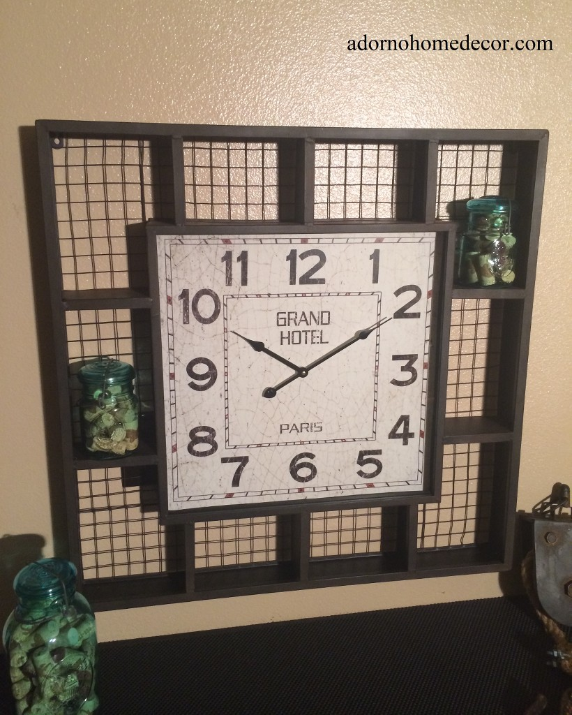 this wall clock goes great with any decor in the home interiors also makes great vintage antique industrial wall decor