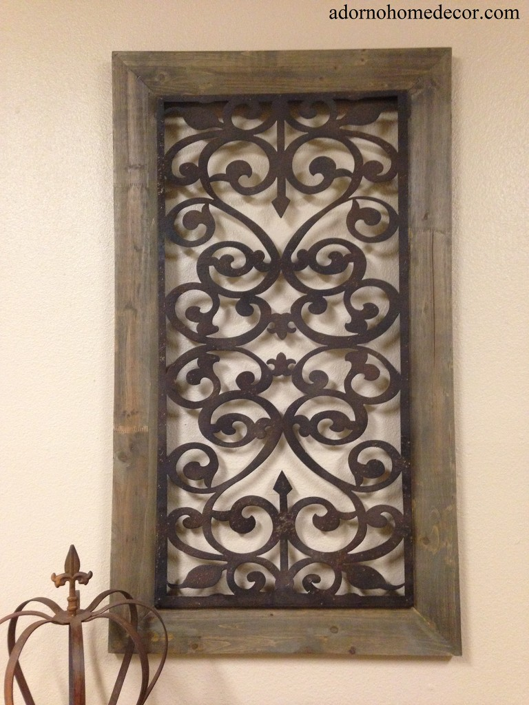 Wall Decor Wood Metal : Large metal wood wall panel antique vintage rustic chic