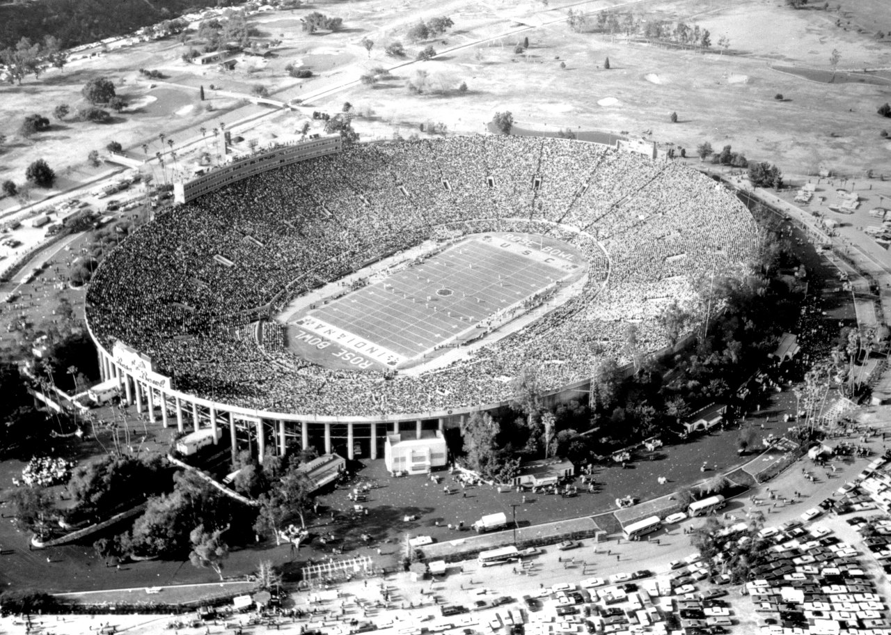 Rose Bowl Stadium 1968 Aerial Photo