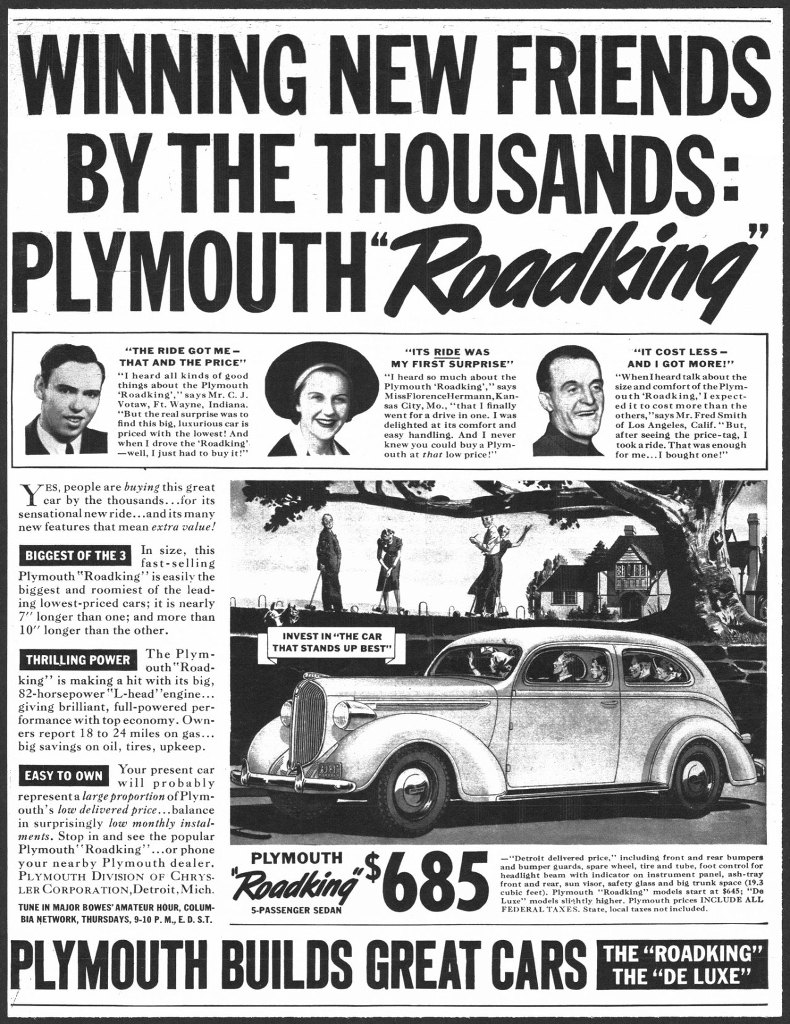 Winning new friends by the thousands with the Plymouth Roadking.